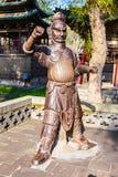 Scena commemorativa del tempio di Jinci (museo). Uno il terrazzo delle statue del ferro (Jinrentai). Fotografia Stock Libera da Diritti