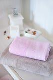 Scena con gli asciugamani Fotografie Stock Libere da Diritti