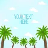 Scena con le palme e del cielo blu con il posto per testo illustrazione di stock