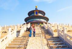 Scena Corridoio del parco del tempio del cielo della preghiera per i buoni raccolti Fotografie Stock Libere da Diritti