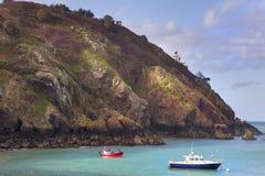 Scena costiera su Sark Immagine Stock