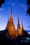 Scena crepuscolare del pagoda buddista Fotografia Stock Libera da Diritti