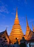 Scena crepuscolare del pagoda buddista Fotografia Stock
