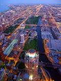 Scena crepuscolare di Chicago immagini stock libere da diritti