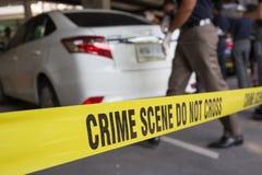 Scena criminale Fotografia Stock Libera da Diritti
