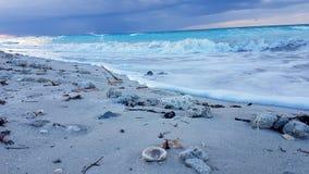 Scena cubana della spiaggia Immagini Stock Libere da Diritti
