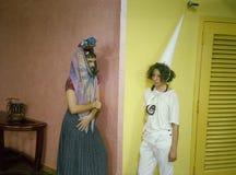 Scena da Ubu Roi da Alfred Jarry - Miami Fotografia Stock