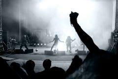 Scena da un concerto di roccia Fotografie Stock Libere da Diritti