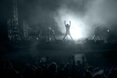 Scena dal concerto di roccia Fotografia Stock
