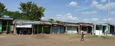 Scena dal Kenya Fotografia Stock Libera da Diritti