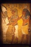 Murale egiziano della parete Fotografia Stock Libera da Diritti