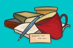 Scena del caffè della tazza e del libro immagini stock libere da diritti