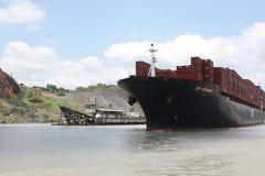 Scena del canale di Panama fotografie stock libere da diritti