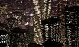 Scena del centro di notte di Toronto Fotografia Stock