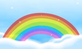 Scena del cielo con l'arcobaleno luminoso royalty illustrazione gratis