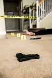 Scena del crimine Immagini Stock