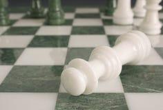 Scena del crimine - chessmate Fotografia Stock Libera da Diritti