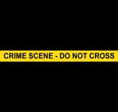 SCENA DEL CRIMINE - NON ATTRAVERSI immagine stock