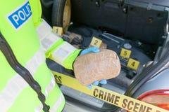 Scena del crimine: Traffico di droga o introdurre di contrabbando immagine stock