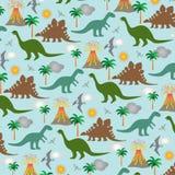 Scena del dinosauro Immagini Stock