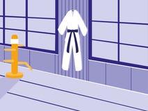 Scena del dojo di arti di Martials illustrazione di stock
