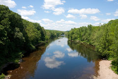 Scena del fiume di Farmington Fotografie Stock