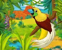 Scena del fumetto - animali selvaggi dell'america - caricatura - uccello di re Immagine Stock Libera da Diritti