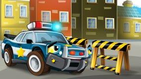 Scena del fumetto dell'inseguimento della polizia Fotografia Stock Libera da Diritti