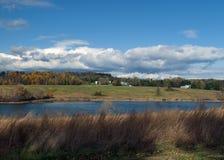 Scena del lago autumn Immagine Stock Libera da Diritti