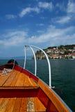 Scena del lago Ohrid, Macedonia fotografia stock libera da diritti