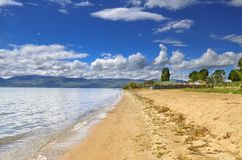 Scena del lago Prespa, Macedonia - lago immagini stock libere da diritti