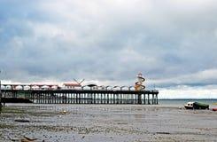 Scena del mare alla baia Kent England di Herne immagine stock