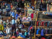 Scena del mercato Fotografia Stock