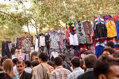 Scena del mercato di Nuova Delhi Fotografie Stock