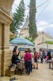 Scena del mercato a Nazaret Immagine Stock