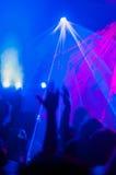 Scena del night-club Fotografie Stock Libere da Diritti