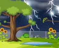 Scena del parco naturale di Storn illustrazione di stock