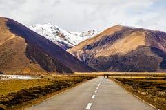 Scena del plateau tibetano fotografia stock