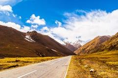 Scena del plateau tibetano fotografia stock libera da diritti