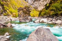 Scena del plateau tibetano fotografie stock libere da diritti