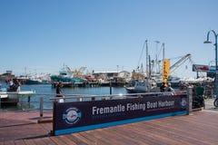 Scena del porto del peschereccio di Fremantle Fotografie Stock Libere da Diritti