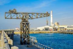 Scena del porto di Tel Aviv Fotografia Stock Libera da Diritti