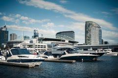 Scena del porto, Docklands, Melbourne Immagine Stock Libera da Diritti