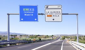 scena del segno di traffico stradale Immagine Stock Libera da Diritti