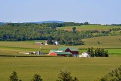 Scena del sud dell'azienda agricola di Midwest Wisconsin Immagine Stock Libera da Diritti
