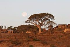 Scena del villaggio rurale immagine stock