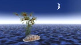scena dell'acqua 3d illustrazione di stock