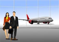 Scena dell'aeroporto Fotografie Stock Libere da Diritti