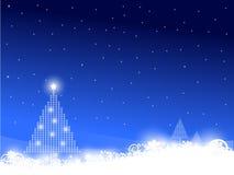 Scena dell'albero di Natale Fotografia Stock