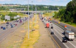 Scena dell'autostrada senza pedaggio Immagine Stock